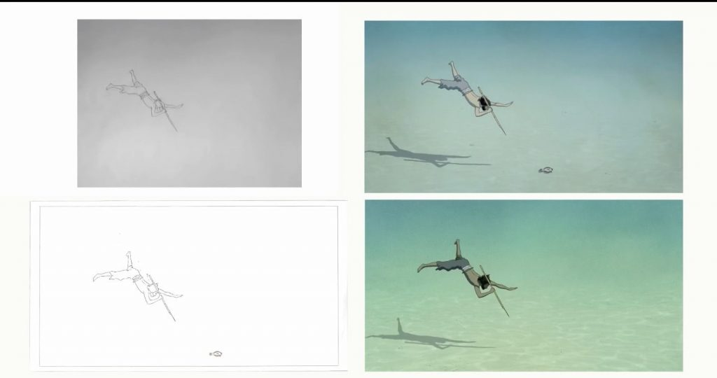 The Red Turtle Shot Development
